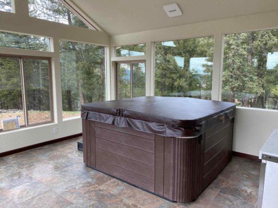 Hot tub enclosure, Colorado
