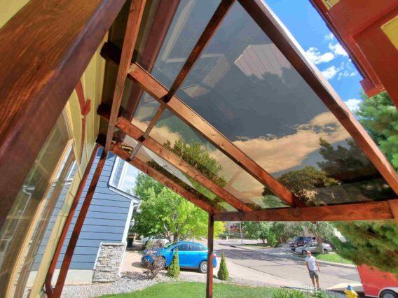Plexiglass canopy