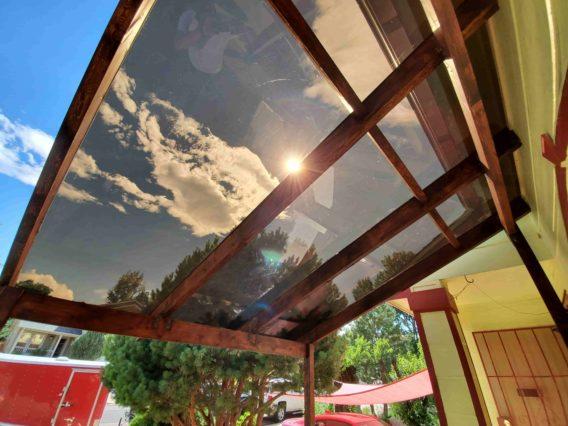 Plexiglass canopy construction