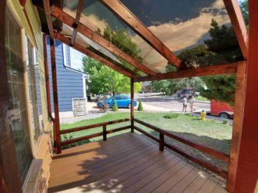 Porch extension construction, Colorado Springs