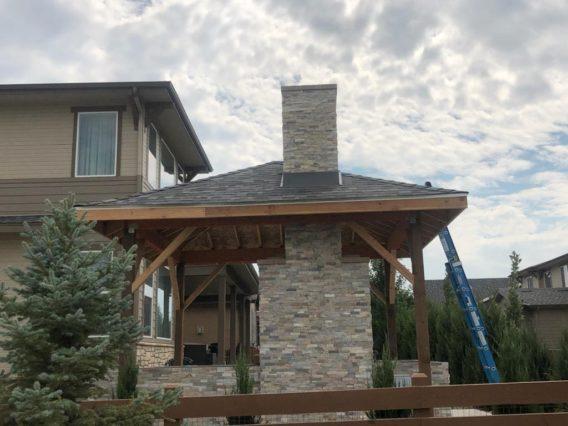 Gazebo construction in Erie, Colorado