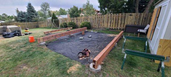 Hot tub enclosure construction, Colorado Springs